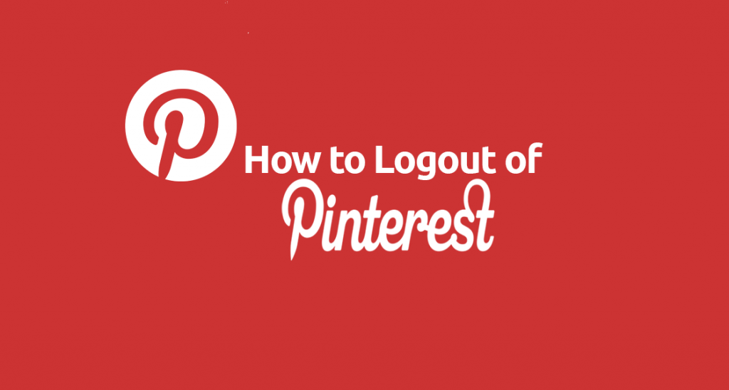 how to log out of pinterest