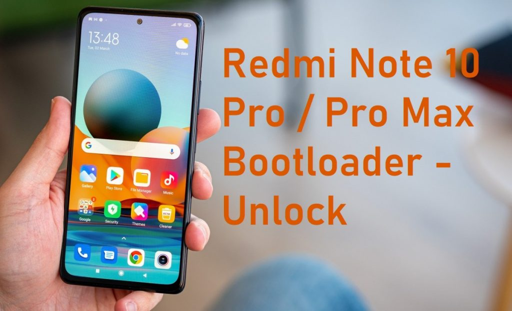 how to unlock Redmi Note 10 Pro / Pro Max bootloader